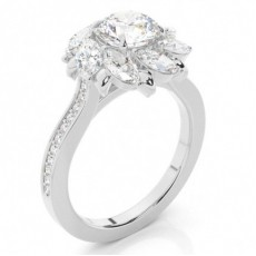 Round Ethereal Collection Diamond Engagement Rings