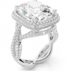 Cushion Platinum Ethereal Collection Engagement Rings