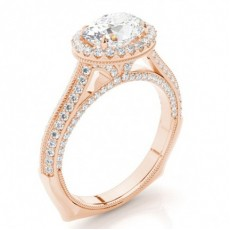 Oval Rose Gold Ethereal Collection Engagement Rings
