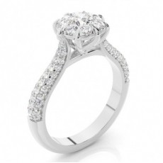 Round White Gold Engagement Rings
