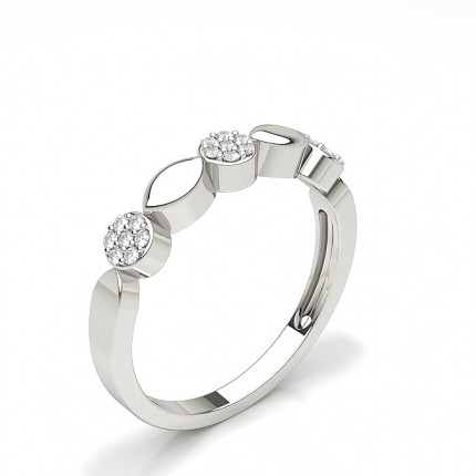 Full Setting Round Diamond Fashion Ring