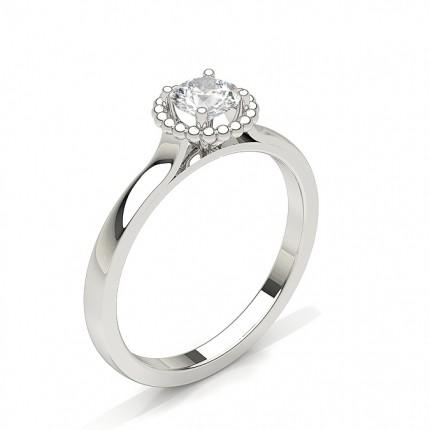Round Diamond Plain Engagement Ring