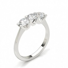 Silver 3 Stone Diamond Rings