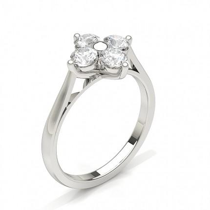 Prong Setting Diamond Cluster Ring