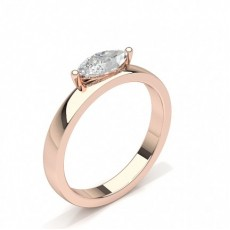 Marquise Or Rose Bague solitaire diamant