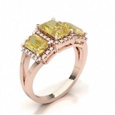 Radiant Rose Gold Diamond Rings