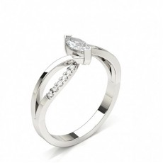 Marquise White Gold Side Stone Engagement Rings