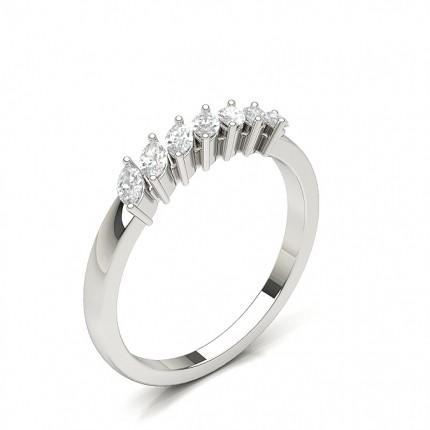 Plain Seven Stone Diamond Ring