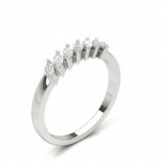 Marquise White Gold Diamond Eternity Rings