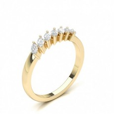 Marquise Yellow Gold 7 Stone Diamond Rings