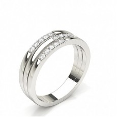Studded Standard Fit Diamond Wedding Band