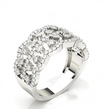 3 Prong Setting Pear Diamond Fashion Ring