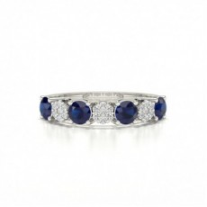 Round Silver Diamond Rings