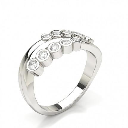 Pave Setting Oval Diamond Fashion Ring