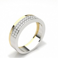Studded Comfort Fit Mens Wedding Band