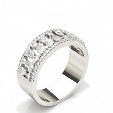 Pear Platinum Statement Diamond Rings