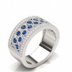 Round White Gold Diamond Rings