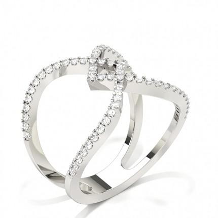 Prong Setting Fashion Round Diamond Ring