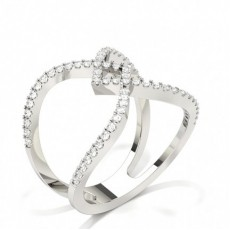 Diamond Prong Setting Round Fashion Ring
