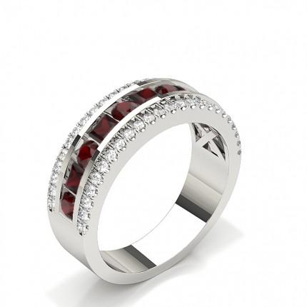 Fashion Prong Setting Round Emerald Ring