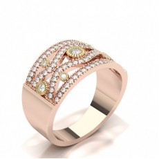 Rose Gold Statement Diamond Rings