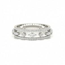 Bague fantaisie diamant serti pavé en 0.68ct
