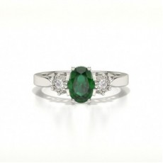 White Gold Emerald Engagement Rings