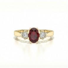Yellow Gold Gemstone Diamond Engagement Rings