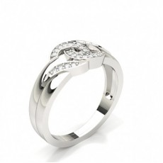 Channel Setting Round Diamond Fashion Ring