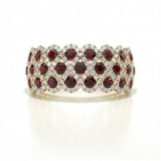 Yellow Gold Ruby Rings