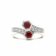Full Setting Round Ruby Fashion Ring