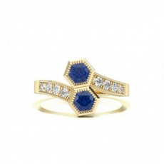 Yellow Gold Sapphire Rings