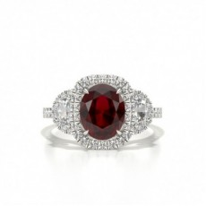 White Gold Gemstone Engagement Rings