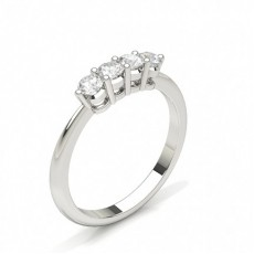 Princess Platinum Half Eternity Diamond Rings