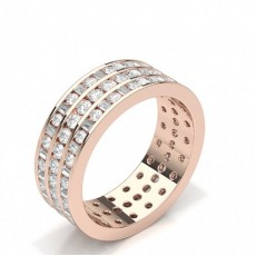 Baguette Rose Gold Full Eternity Diamond Rings