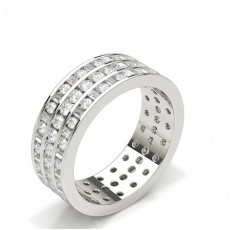 Baguette White Gold Full Eternity Diamond Rings