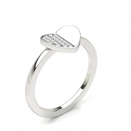 Yellow Diamond Heart Fashion Ring