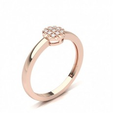 Rose Gold Promise Diamond Rings