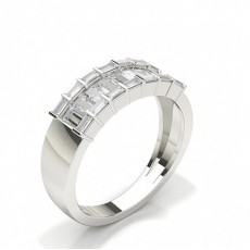 Baguette White Gold Anniversary Diamond Rings