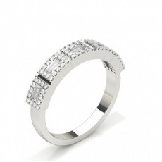 Baguette Platinum Diamond Rings