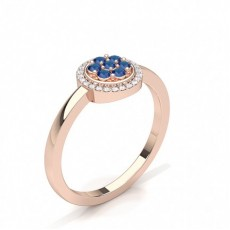 Rose Gold Gemstone Engagement Rings