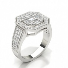 Pave Setting Diamond Cluster Ring