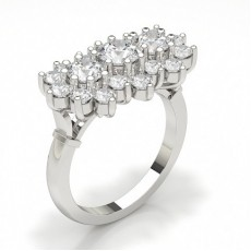 Setting Round Diamond Fashion Ring