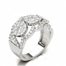 Setting Round Diamond Fashion Ring