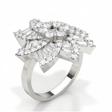 Baguette White Gold Diamond Rings