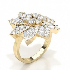 Yellow Gold Statement Diamond Rings