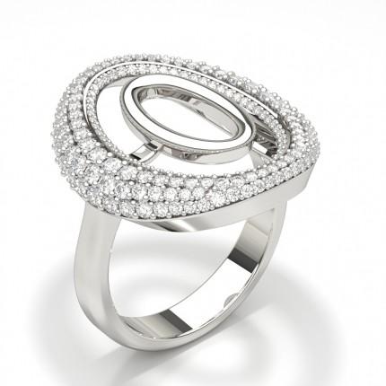 Round Studded Diamond Fashion Ring