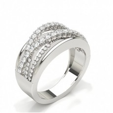 Studded Diamond Wedding Band