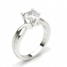Heart  Solitaire Engagement Rings