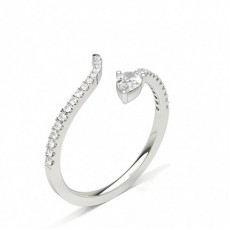 Pear Silver Diamond Rings